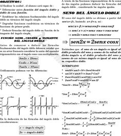 IDENTIDADES DEL ANGULO DOBLE EJERCICIOS RESUELTOS DE TRIGONOMETRIA DE NIVEL UNI ~ MATEMATICA…