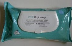 "Well Beginnings Green Tea & Cucumber Baby Wipes 64 Ct.  Well Beginnings #Baby #Wipes with #Airweave #technology are designed to be thick, cushiony-soft and alcohol-free to avoid irritating baby's delicate skin. This mild cleansing lotion contains Aloe, Vitamin E and Shea Butter to help moisturize baby's skin."" Perfect for many uses. """