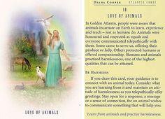 """Love of Animals"" -  Atlantis Card – Diana Cooper"