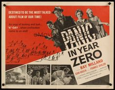 eMoviePoster.com Image For: 4t065 PANIC IN YEAR ZERO 1/2sh '62 Milland, Jean Hagen, Frankie Avalon, orgy of looting & lust!