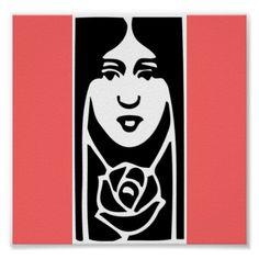 Art Deco Posters | Classic Art Deco Woman Posters