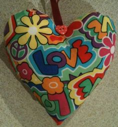 Handmade Love Fabric Heart Lavender Bag - Handmade