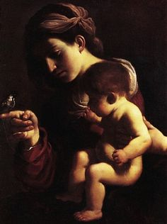 Il Guercino: Madonna and Child.