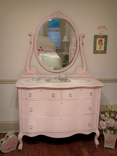 I think I may do this for Olivia's dresser. Love it!