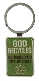 KEYRING:  GOD RECYCLES (KEP020). Available from CUM Books in South Africa.