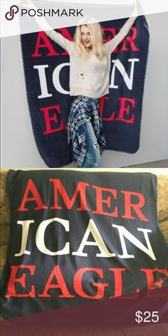 Offer! American eagle outfitters throw blanket Red white and navy patriotic colors  Very soft and pretty big  This blanket was only offered at AEO on black friday 2016 I'd keep it but I have a lot of throw blankets   I'm taking best offer! Cheaper on vinted or mer American Eagle Outfitters Other
