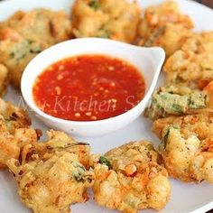Shrimp and Carrot Fritters