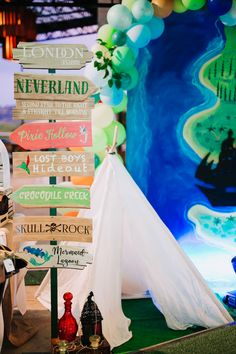 Neverland directional sign from a Magical Neverland Birthday Party on Kara's Party Ideas | KarasPartyIdeas.com (6)