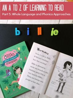 A  to Z of Learning to Read. Whole Language and Phonics approaches. A series by My Little Bookcase