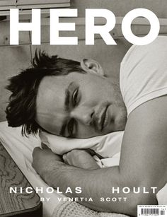 Nicholas Hoult in Hero magazine