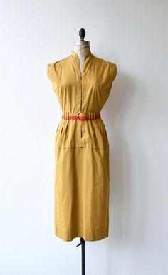 Topace cotton dress vintage 1950s dress cotton 50s dress