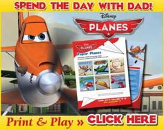 I have the biggest smile on my face right now. I was hoping to find some printable paper airplanes in the theme of Disney's Planes, and I did. I can't wait to make them and play the gam…