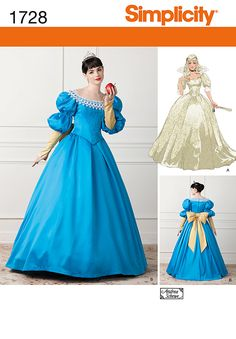 Do you want to create your own costume for a party or a social event?Take advantage of our extensive range of costume patterns! At Spotlight, you will find costume patterns for everyone, including children, women, men and special plus size patterns! Snow White Costume, White Costumes, Ariel Pink Dress, Carnaval Costume, Vestidos Color Rosa, Fairy Tale Costumes, Fairytale Gown, Wedding Dress Patterns, Princess Ball Gowns