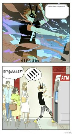 Mosspaca manhua OldXian  Playing with credit card