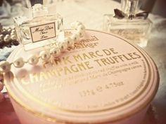 Miss Dior, pearls and pink champagne truffles???  Sheer happiness!