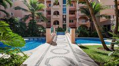 Quinta Maya - 2 swimming pools, sun chaises and palm trees for shade! - Riviera Maya Haciendas, Puerto Aventuras, Mexico.