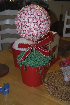 Christmas mint Topiary tutorial