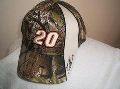 Tony Stewart #20 Camo w/Tan Trim Ball cap, new w/tags w/free shipping