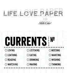 Currents Stamp by Life.Love.Paper