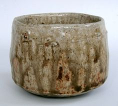 Alan Birchall, AB371 Chawan. Apple ash glaze over red slip. 11x8 cm