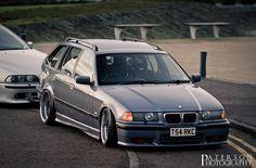 Fantastic e36 touring on OEM BMW BBS RC