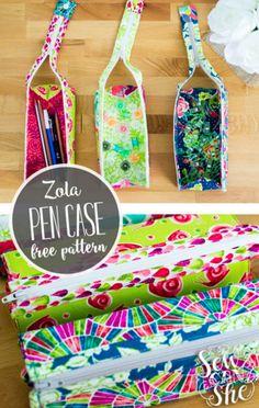 Free Sewing Pattern: Zola Pen Case