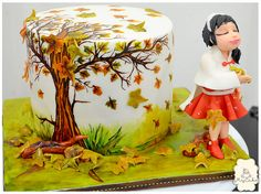Thanksgiving - made this for a charity auction on my church tomorrow :) tried to make this beautiful autumn/fall season.. wish i have maple leaf fondant cutter..