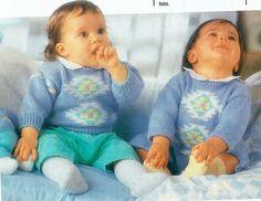 Genuine Vintage Babys Diamond Motifed Set of 3 Jumper Blanket and Teddy Knitting Pattern PDF
