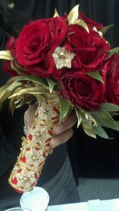 The wow factor on this bouquet will knock anyone dead.