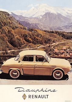Renault Dauphine ...they were so adorable...the ads featured them lifted by toy balloons...beep, beep...!