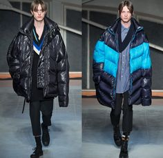 Raf Simons 2016-2017 Fall Autumn Winter Mens Runway Catwalk Looks - Mode à Paris Fashion Week Mode Masculine France - Horror Movies Preppy School Boy Collegiate Varsity Oversized Outerwear Trench Coat Parka Quilted Waffle Puffer Down Jacket Slim Pants Trousers V-neck Cardigan Knit Sweater Jumper Scarf Long Sleeve Shirt Check Windowpane Grid Lattice Elongated Sleeves Stripes Bag Duffel Boots