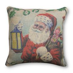 Find it at the Foundary - 16 in. Santa Burlap Pillow
