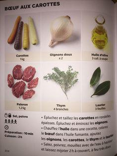 Bœuf aux carottes   Recette de J.F. MALLET