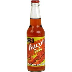 Lester's Fixins Bacon Soda That's right, bacon soda. Looking for an unforgettable gift for that bacon lover? This soda is sure to be something that they never forget. This would pair perfectly with an Bacon Soda, Bacon Bacon, Soda Brands, Cream Soda, Ice Cream, Candied Bacon, Food Humor, Funny Food, Weird Food