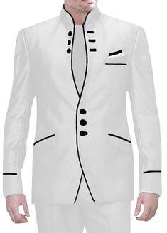 Bandhgala Jodhpuri suit for men African Wear Styles For Men, African Dresses Men, African Attire For Men, African Clothing For Men, African Tops, Nigerian Men Fashion, Indian Men Fashion, Mens Fashion Wear, Big Men Fashion