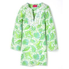 Lilly Pulitzer Tunic. I love the Lilly Lifestyle. Pink & Green country club resort chic.