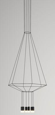 Suspension Wireflow / 90 x 104 x H 132,5 cm Noir - Vibia