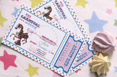 Carnival party: Don't forget your invites and thank you cards!