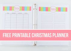 Free Printable Christmas Planner - everything you need to help you get organized (and less stressed) this holiday!