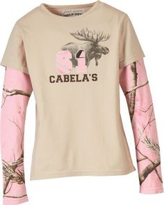 Cabela's Girls' Realtree® Two-in-One Tee