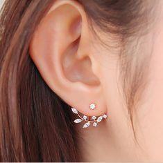 Hot casaco de ouro chapeado de folha de cristal brincos para mulheres jóias Ear Studs frete grátis em Brinco de brilhante de Jóias no AliExpress.com | Alibaba Group