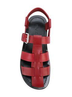 15d1bba3e360 Prada Caged Gladiator Sandals - Farfetch