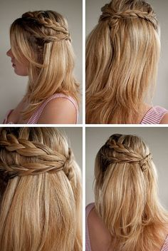 Plaited half up hairstyle by keaw