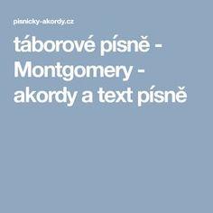 táborové písně - Montgomery - akordy a text písně