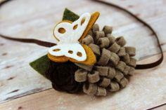 Fall felt flower headband   by muffintopsandtutus on Etsy, $7.75