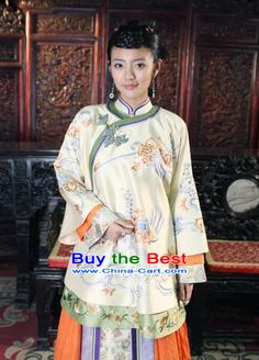 Traditional Chinese Mandarin Minguo Lady Blouse and Skirt Brazil