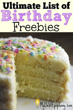 Ultimate List of Birthday Freebies. Why not find something free and fun to do on your birthday? Freebies On Your Birthday, Birthday Rewards, It's Your Birthday, Free Birthday, 40th Birthday, Happy Birthday, Ways To Save Money, Money Tips, Money Saving Mom