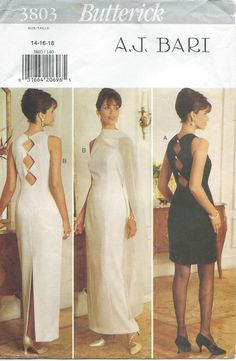 Butterick prom dress sewing pattern 3803 party cocktail dress stole S14 18 B36 40 $4.99