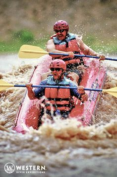 """The rapids of Desolation Canyon are perfect for these """"duckies""""- 2 person inflatable kayaks! #Utah #whitewater #kayaking"""