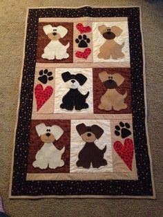 Puppy quilt to match a puppy themed nursery. I think I outdid myself!